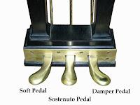 grand piano lyre triple pedal