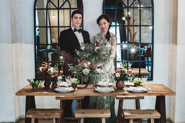 Decoracion floral en rojo, verde y blanco - Blog Mi Boda