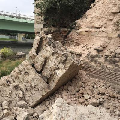 Κατάρρευση βυζαντινού πύργου στην Κωνσταντινούπολη