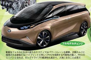 トヨタ次期エスティマ フルモデルチェンジ予想画像
