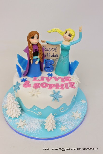 The Sensational Cakes Let It Go Edna Elsa Cake Singapore