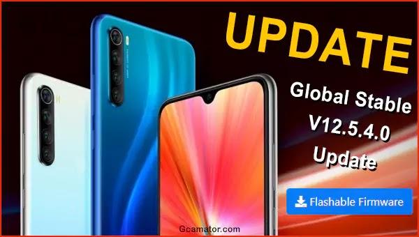 UPDATE Redmi Note 8 2021 V12.5.4.0
