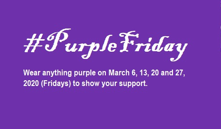 Purple Fridays: Teachers to wear purple on all Fridays of March