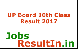 UP Board 10th Class Result 2017