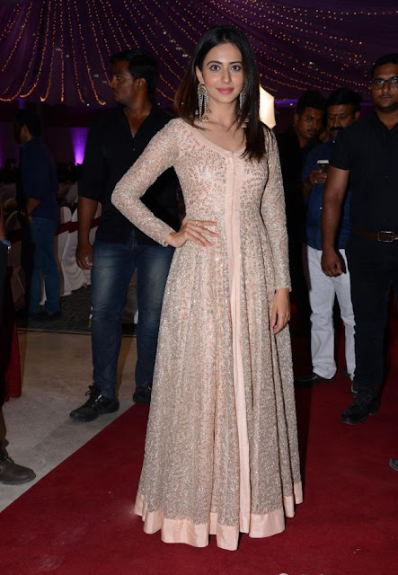 Actress Rakul Preet Stills At Wedding Reception Photos Navel Queens