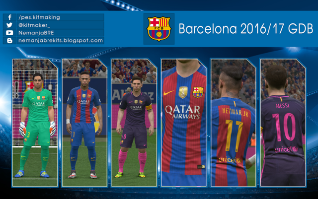 Barcelona Kit Season 2016-2017 Update - PES 2016 - Drivermu