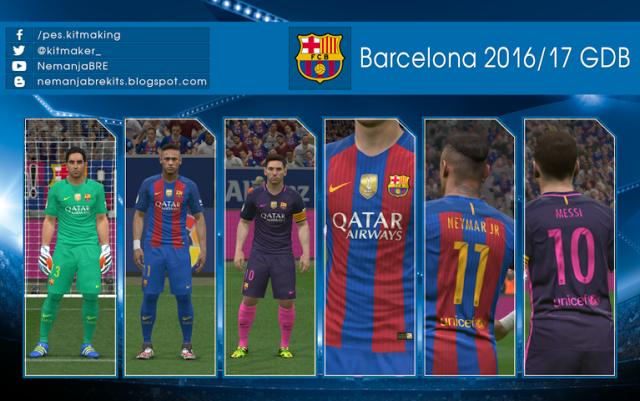 Barcelona Kit Season 2016-2017 Update - PES 2016