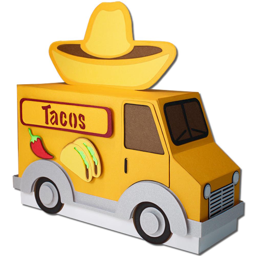 Jmrush Designs Taco Truck Treat Box