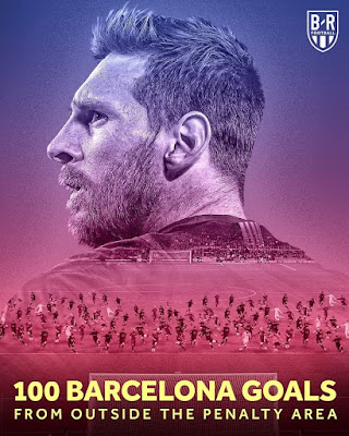 #Lionel #Messi scores his 100th Barcelona goal from outside the penalty box.
