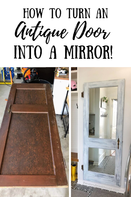 Antique Door Turned Mirror