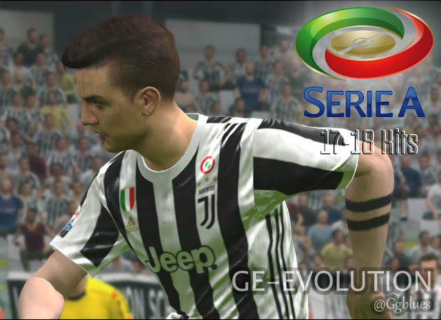 fe810df9d05 PES 2017  PC PS4  Serie A 2017 18 Full Kits-Pack