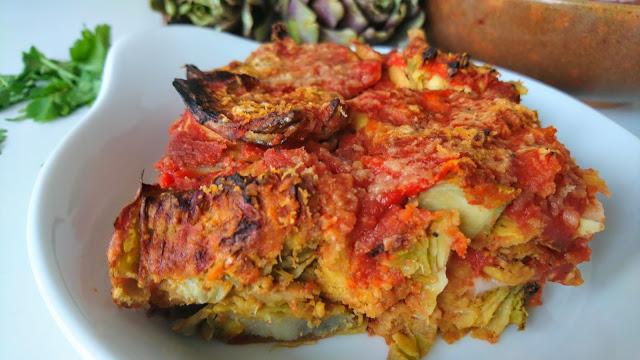 Parmigiana di carciofi tradizionale, ricetta senza glutine