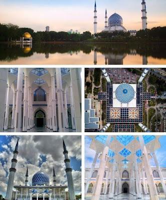 masjid biru shah alam tempat menarik