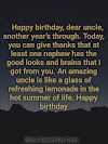 Top 49 Funny birthday wishes for uncle from niece