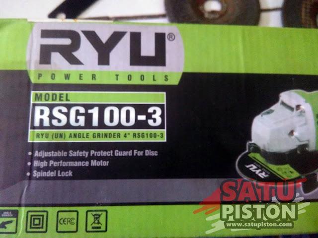 Review Spesifikasi Gerinda RYU RSG 100-3, Apa Kekurangan Gerinda RYU ???