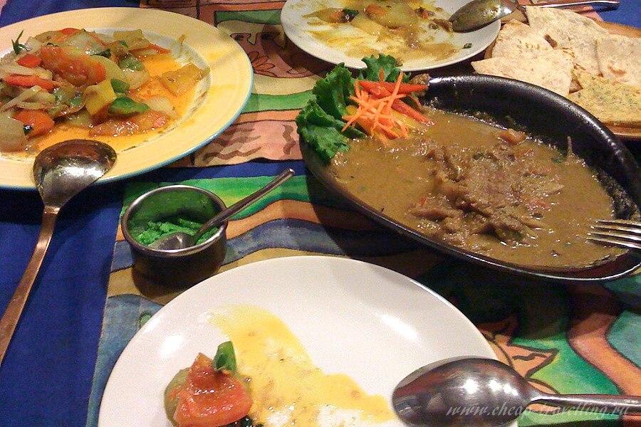 Шриланкийская еда на обед