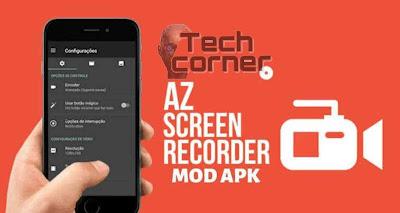 تحميل تطبيق  AZ Screen Recorder  لتصوير شاشه الهاتف فيديو بالصوت بدوت روت