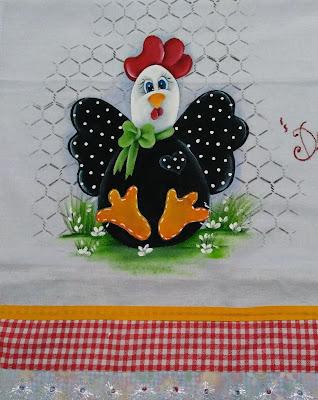 semaninha de galinha - galinha estilo country com laço de fita