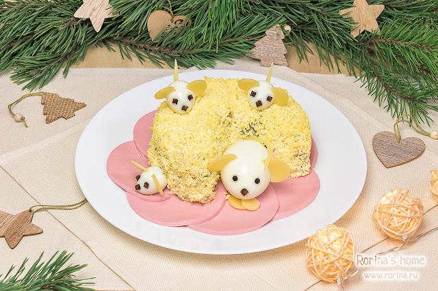 Салат «Мышки в сыре»: пошаговый рецепт