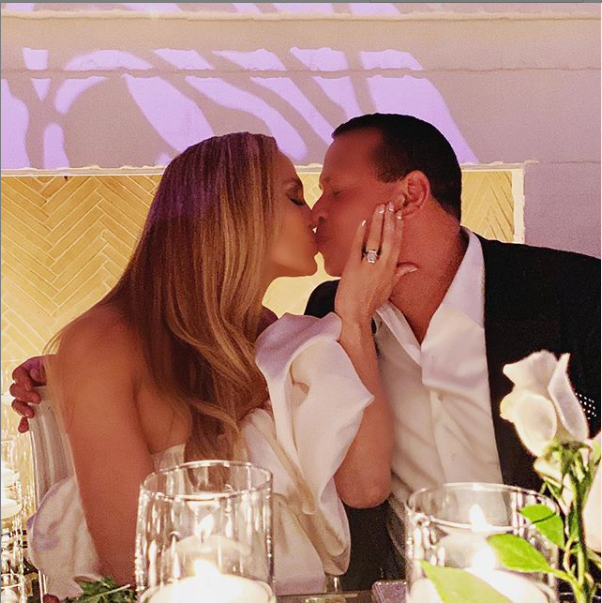 Jennifer Lopez and Alex Rodriguez throw engagement party with family and friends
