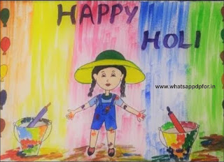 holi drawing for class 5 easy