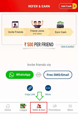 Refer & Earn Rs 500 Per Friend