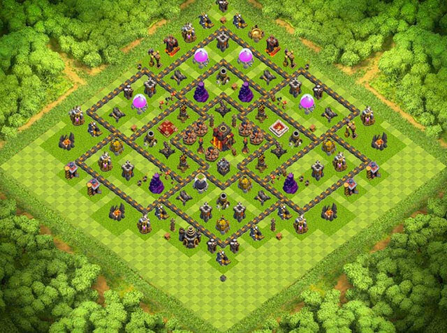 Base Town Hall 10 Clash of Clans Clan War