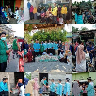 Ramadhan Pertama, IPMBB Berbagi Masker dan Beras Kepada Masyarakat