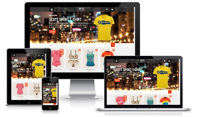 Free SpotCommerce Premium Blogger Template v1.5.0