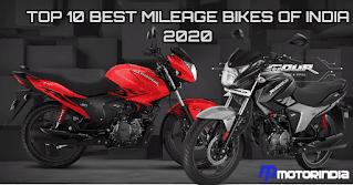 10 Best Mileage Bikes in India 2020
