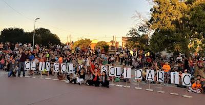 Centenares de Vecinos participaron del Festival Solidario de Navidad de Monte Chingolo