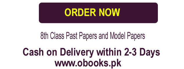 8th Class Past Old Papers Download 2019 (Class VIII) Model Question