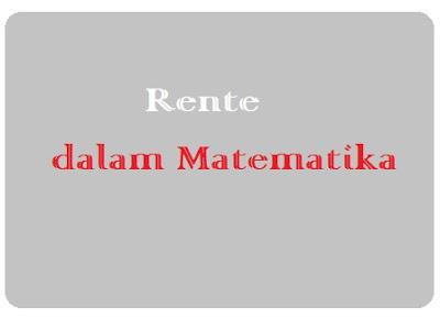 Matematika Keuangan tentang Rente