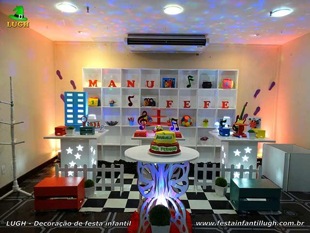 Detetives do Prédio Azul - Decoração de mesa temática DPA para festa de aniversário infantil