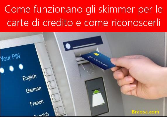 Come funzionano gli skimmer per leggere le carte di credito