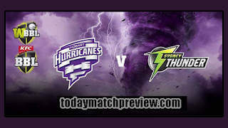 Today BBL 2018-19 11th Match Prediction Hobart vs Thunder