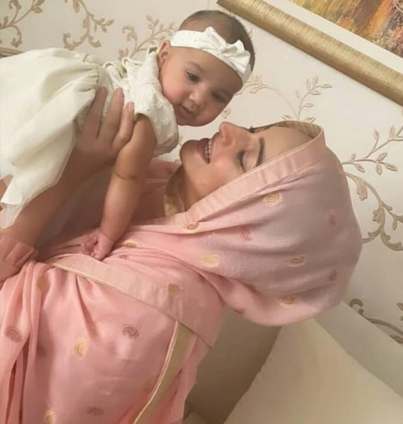 Noor Bukhari recent pictures with her Young Daughter and Husband