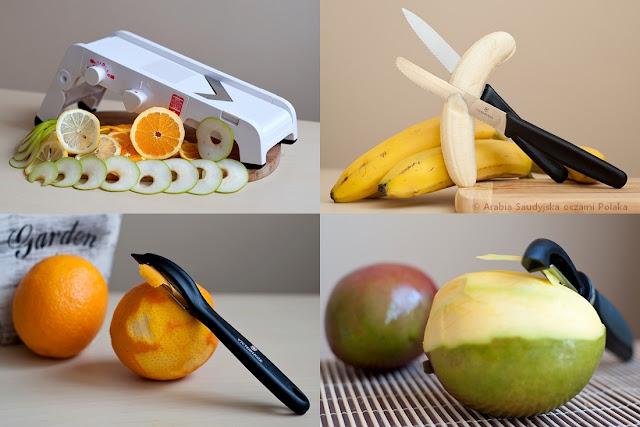 Suszenie warzyw i owoców - przybory kuchenne