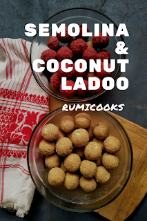 This coconut suji ladoo or semolina and coconut ladoo is a very delicious Indian sweet dish. This suji ladoo is generally made during festivals like Diwali.