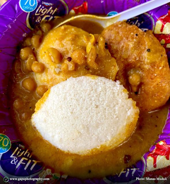 Vada, Idli, and Ghuguni with Chutney at Anna South Indian Sweets & Tiffin Center, Bhubaneswar