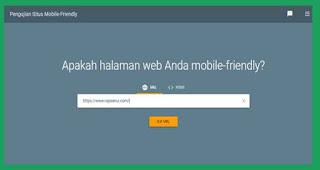 Mobile Friendly Checker Google