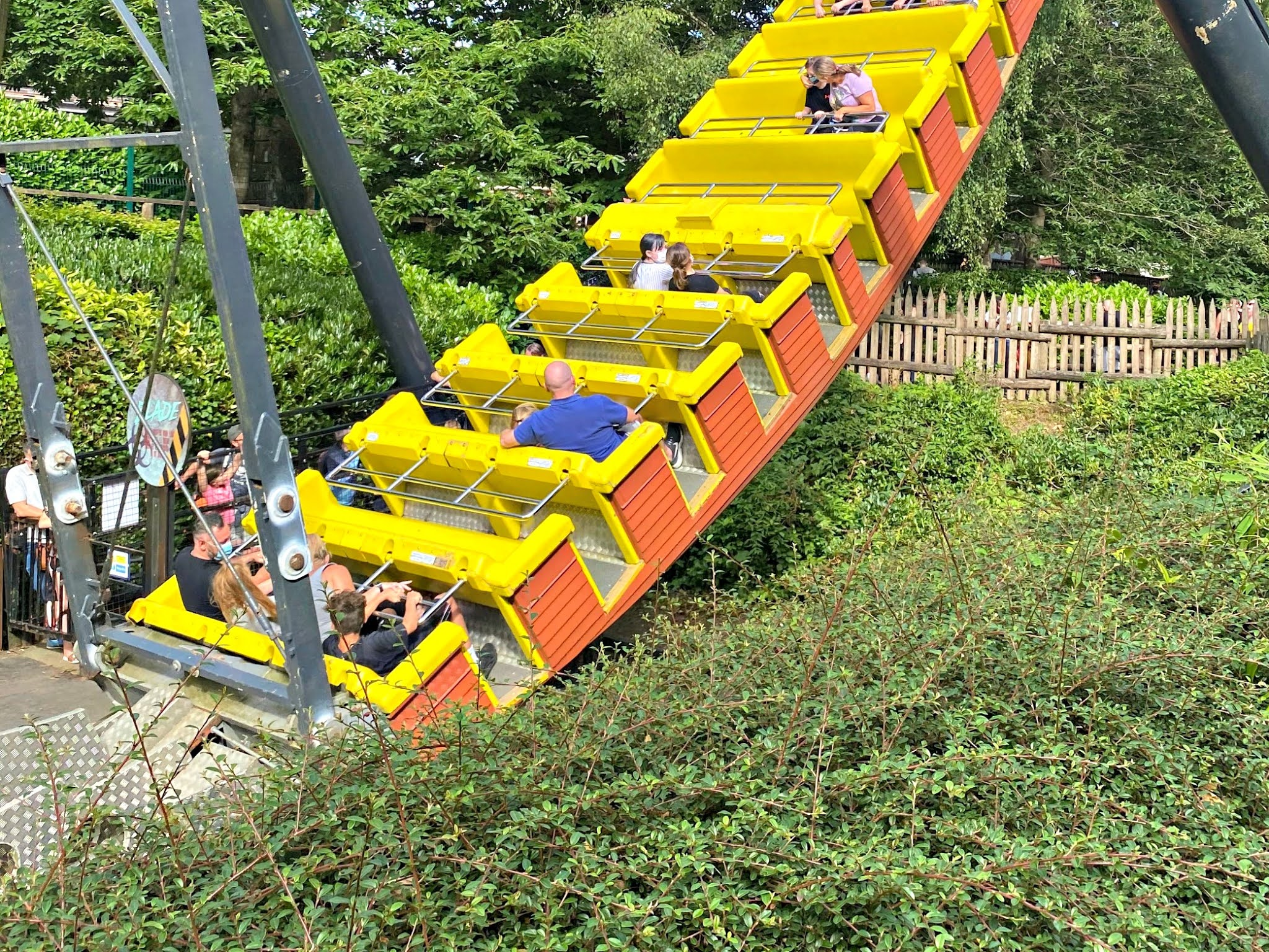 The Blade ride at Alton Towers