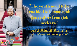 """The youth need to be enabled to become job generators from job seekers."""