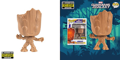 Entertainment Earth Exclusive Guardians of the Galaxy Groot Wood Deco Pop! Marvel Vinyl Figure by Funko