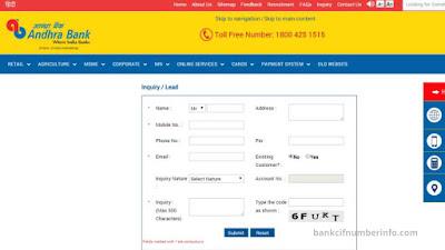 Check Andhra Bank balance by internet banking