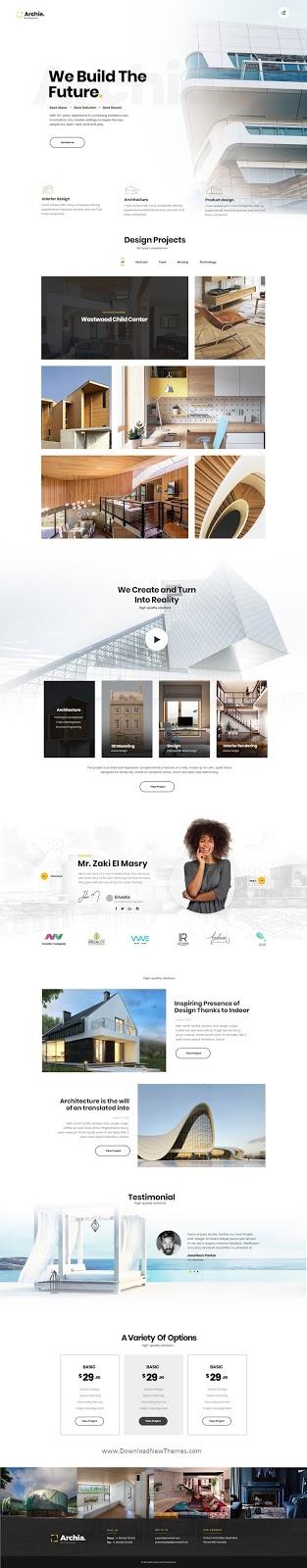 Archia Adobe XD Template