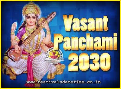 2030 Vasant Panchami Puja Date & Time, 2030 Vasant Panchami Calendar