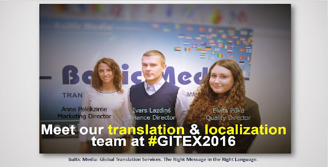 Meet Nordic translation sewrvice provider Baltic Media at GITEX 2016 in Dubai