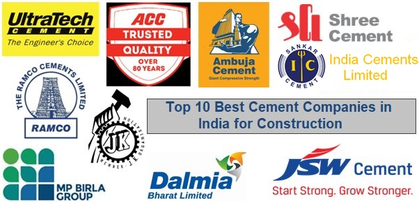 List of Top 10 Cement Companies in India for Construction | Best Cement Company in India 2021