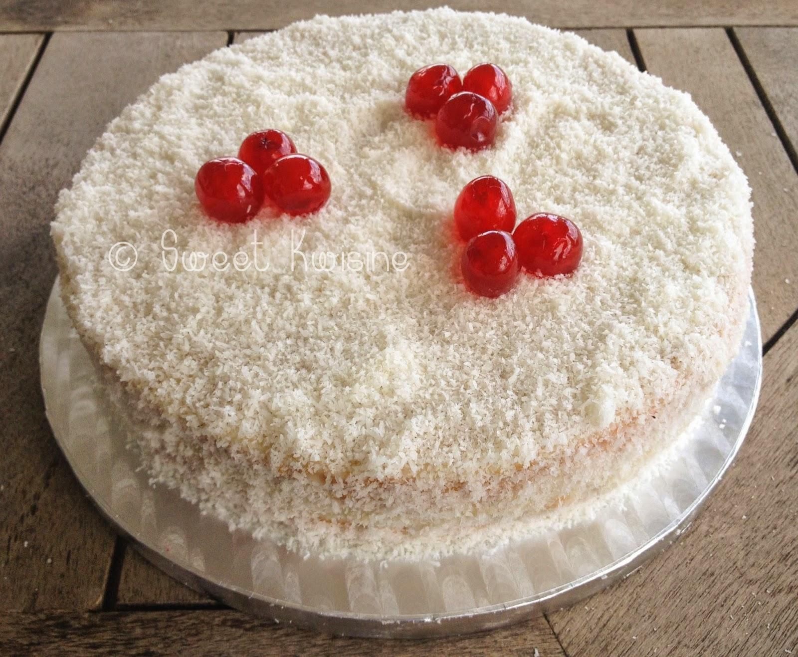 sweet kwisine, gâteau, coco, coconut, cake, mont-blanc, pâtisserie, cuisine antillaise, martinique, recette, crème pâtissière